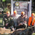 "(left to right) Veterans in attendance at the Nov. 2 Wounded Warriors hunt included: Charles ""Chuck"" Williams, Sergeant 1st class, retired, Leesville, La.; Mike Chesne, Master Sergeant, retired, Alexandria, La.; Eric Broussard, Staff Sergeant, retired, Lake Charles, La.; Josh Droddy, Sergeant, retired, Dry Creek, La."