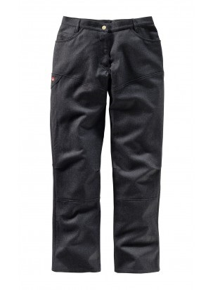 Cloth Loden Ladies' Pants in Anthracite