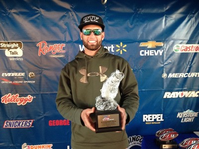 Co-angler Jessey Rudolph of Deltona, Fla., won the Jan. 18 Gator Division event on Lake Okeechobee with 12-pound, 10-ounce limit. He was awarded $3,000 for his victory.