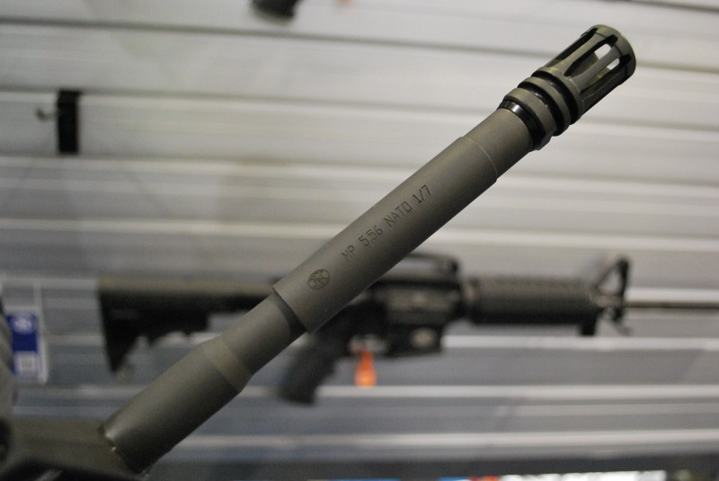 The FN-marked barrel on the FN 15 Carbine.
