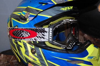 Helmets for off-roading often work best when complimented with a good pair of goggles, like these Oakley Airbrakes.