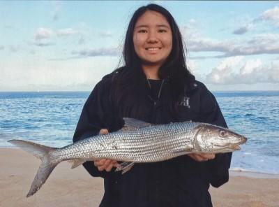 Junior angler Jamie Hamamoto's sharpjaw bonefish.