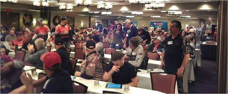 A room full of professional anglers and there isn't a tournament in the morning! This is one of the sessions during the NPAA conference last weekend.