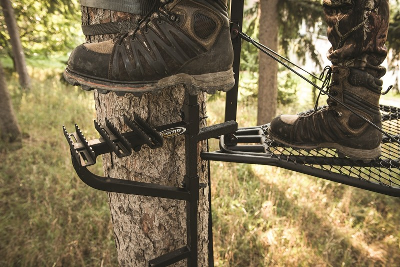 The Hurricane Safety Systems Treestand PowerSTEP. Image courtesy Hurricane Safety Systems.