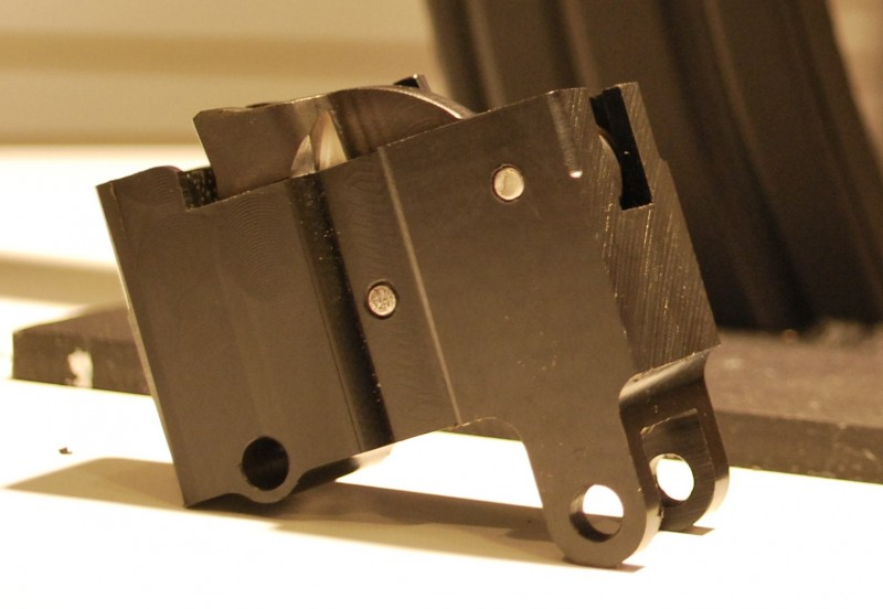 Three different aftermarket Tavor triggers will be hitting the market in 2013. Seen here is the ShootingSight trigger.