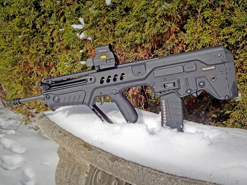 A left-side view of the Tavor SAR TSB18.