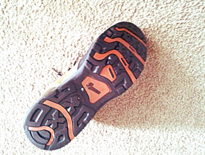 The Nobo's tread patterning is meant for hiking through light brush.