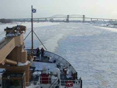 The Great Lakes are currently 77.5 percent frozen.