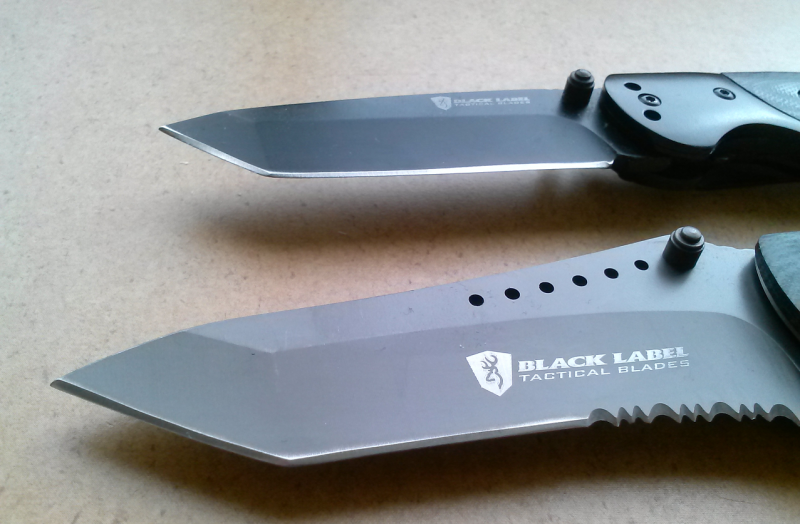 The Integrity definitely has the more aggressive blade of the two.