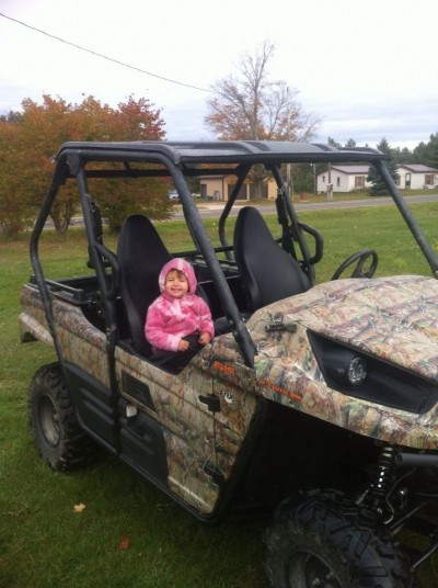 My daughter is all about speed! She loves to ride in the ATV and go fast. I'm in serious trouble when she gets older!