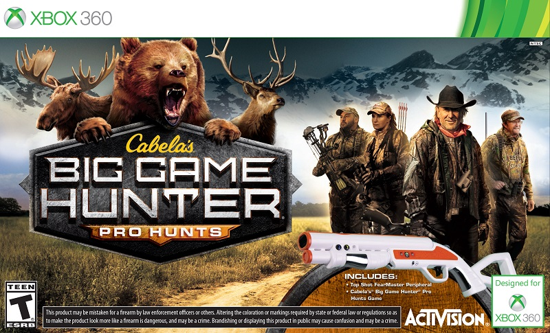 Xbox 360 And Ps3 Games : Activision announces cabela s big game hunter pro hunts