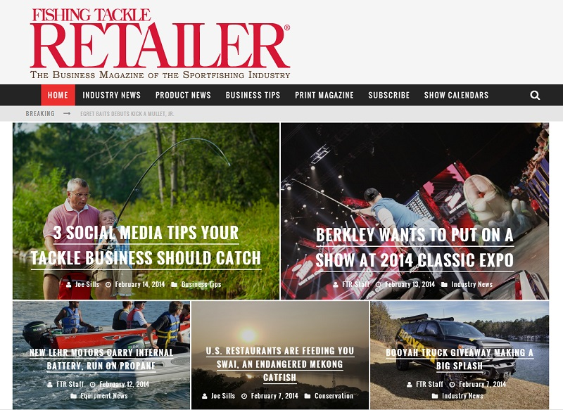 Fishing tackle retailer launches new website outdoorhub for Fishing tackle retailer
