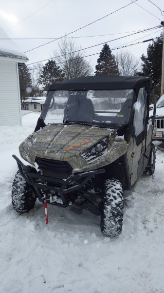 While not pre-wired for a winch, the Kawasaki Teryx has a mounting point built-in at the factory.