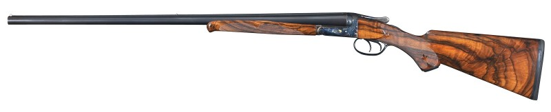 A left-side view of the shotgun.