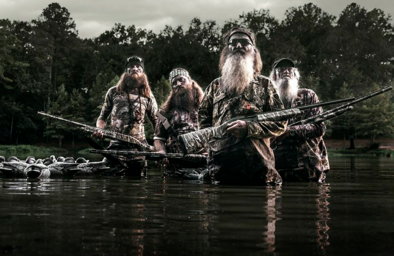 The Robertson men from left to right: Willie, Jase, Phil, and Uncle Si.