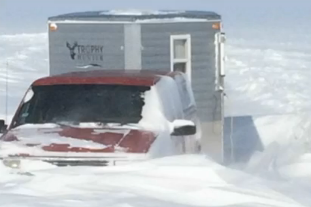 Dozens of ice fishermen rescued after minnesota storm for Red lake ice fishing resorts