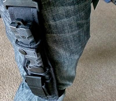 The addition of a leg strap keeps the holster rigid against the body.