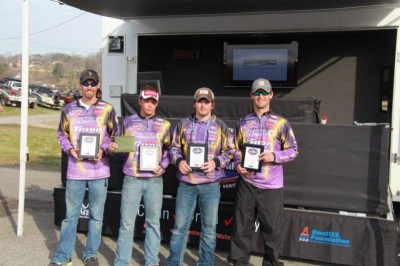 Bethel University bass team took second.