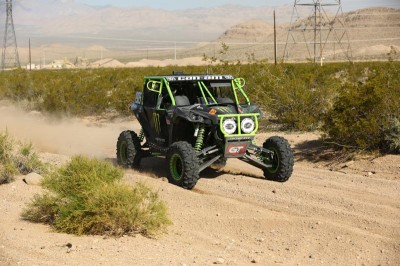 MB Motorsports / Monster Energy / Can-Am Maverick 1000R X rs DPS pilot Marc Burnett took second overall in the 1900P class this weekend at the Best In The Desert Mint 400 race in Nevada.