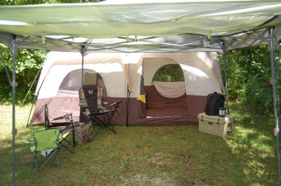 Turkey camp setups don't have to be elaborate. It's more about spending time outdoors than it is about having everything just so.