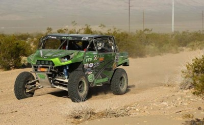 Riding on ITP Bajacross tires, Dave Lytle drove his No. 1963 Kawasaki to the win in the 850P class at the Mint 400 BITD event.