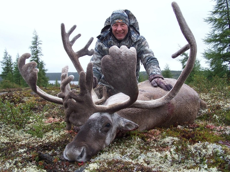 Dunn with his trophy Quebec-Labrador caribou.