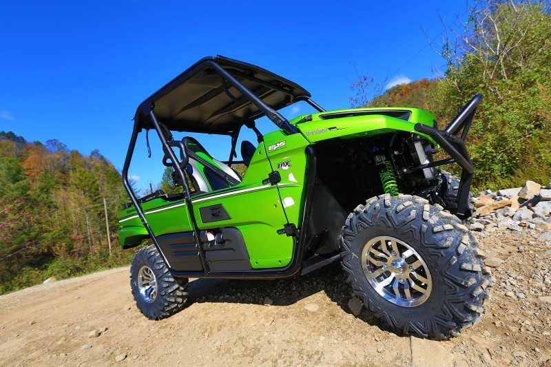Kawasaki outfitted the Teryx with tires and wheels that are not only stylish, but extremely versatile, too. Image courtesy Kawasaki.