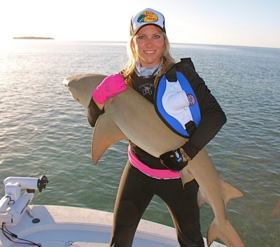 Larysa in the  Madfin Shark Series.