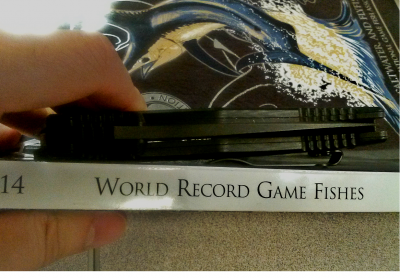 The thickness of the Adamas compared to my 2014 copy of IGFA's 'World Record Game Fishes.' The book is over 400 pages.