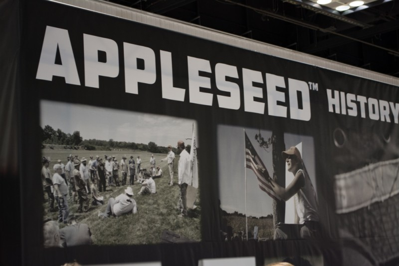 The Appleseed Project had a large booth, staffed with about 20 energetic volunteers.
