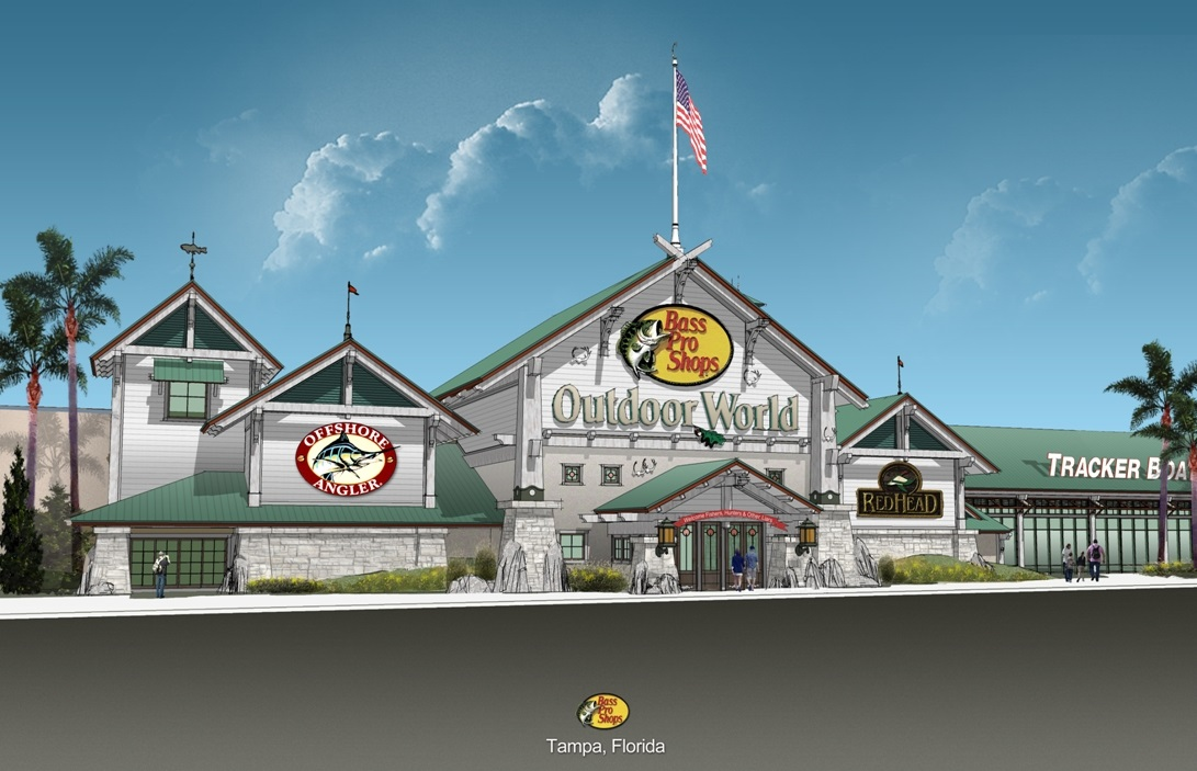 Bass Pro Shops Announces New Features of Mega Outdoor Store in Tampa/Hillsborough County, Fla ...