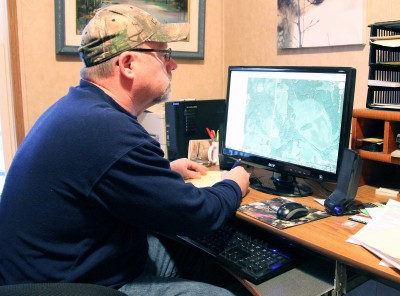 A successful hunt starts from home in the spring. The author spends significant amounts of time analyzing public hunting land in aerial photos, looking for that next hunting hot spot.