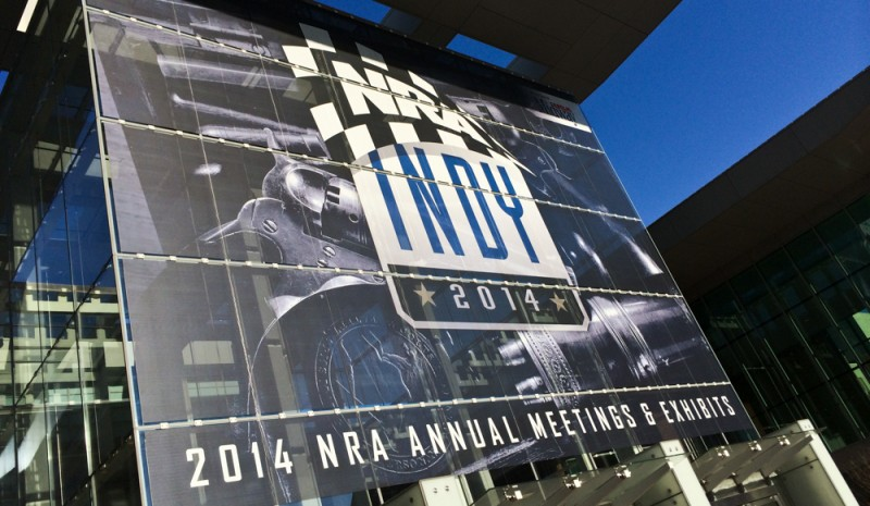 The sign welcoming visitors to the NRA Annual Meeting & Exhibits that was held in Indianapolis this past weekend.