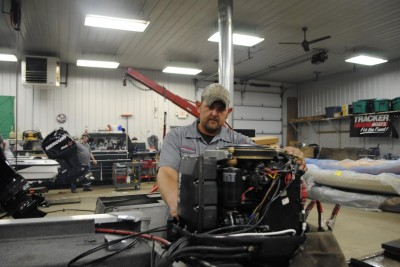 D&R Sports Center mechanic Adam Silsbee recommended feeling the thermostat housing when you run the outboard to make sure the water's heating up.