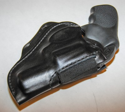 The BLACKHAWK! Leather Speed Classic for J-Frame revolvers.