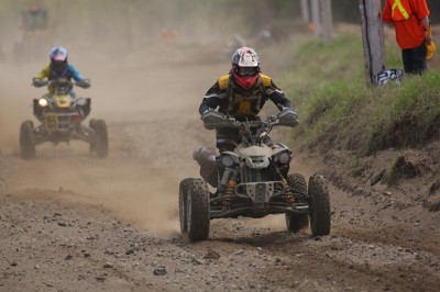 Iron Man class winner Martin Lafontaine rode all 12 hours and ended up ninth overall aboard his Can-Am DS 450 ATV.