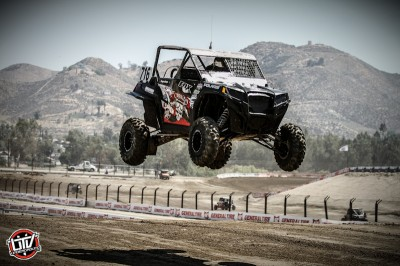 Driving his No. 716 Polaris, ITP racer Cody Rahders won the Walker Evans RZR class at round three of LORORS in Southern California. (Photo by Shilynn Milligan // UTVUnderground.com)