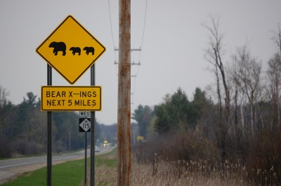 Once uncommon, drivers often see signs like this around Michigan. Image by Derrek Sigler.