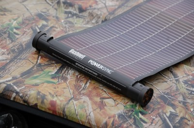 Bushnell's PowerSync SolarWrap 400 allows you to keep batteries charged when there is no place to plug in. Even under overcast skies, the solar panel stores energy and recharges quickly.