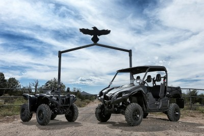 Yamaha's Special Edition Tactical Viking and Grizzly ATVs were the main reason we were at Gunsight. Both are decked out in tactical flat black colors and accessorized specifically for the tactical crowd.