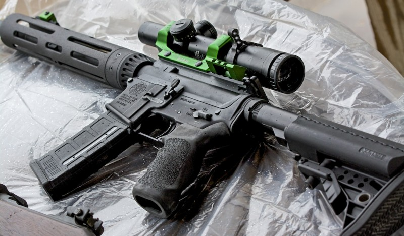 Smith & Wesson's M&P15 VTAC I. It's shown here with a Warne RAMP mount and Bushnell Tactical Elite optic.