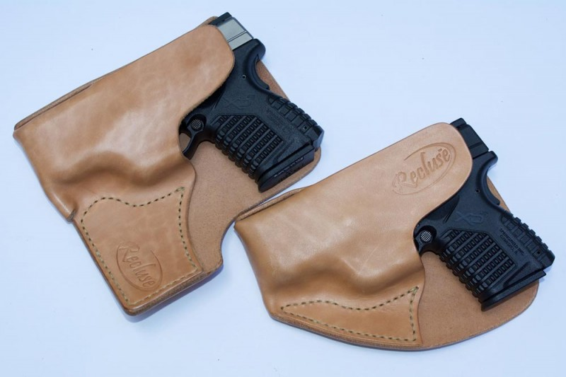 Recluse pocket holsters, cargo and standard models.