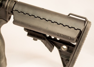 The VLTOR ModStock has waterproof compartments for extra batteries or beef jerky - your choice.