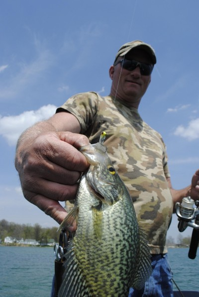 Jim Horn prefers a small tube jig for pre-spawn crappie.