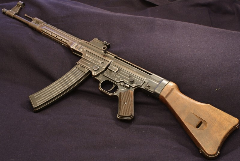 It is legal to own machine guns, like this fully-transferable German MP 43/1 from a private collection, in the United States. However, many are prohibitively expensive.