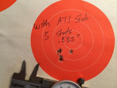 If anything, there was a very slight improvement in accuracy after installing the ATI AR-22 kit.