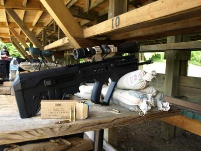 Matt Korovesis' Tavor setup for testing the IMI Razor Core ammo. How can you go wrong with using Israeli ammo in an Israeli gun? Image by Matt Korovesis.