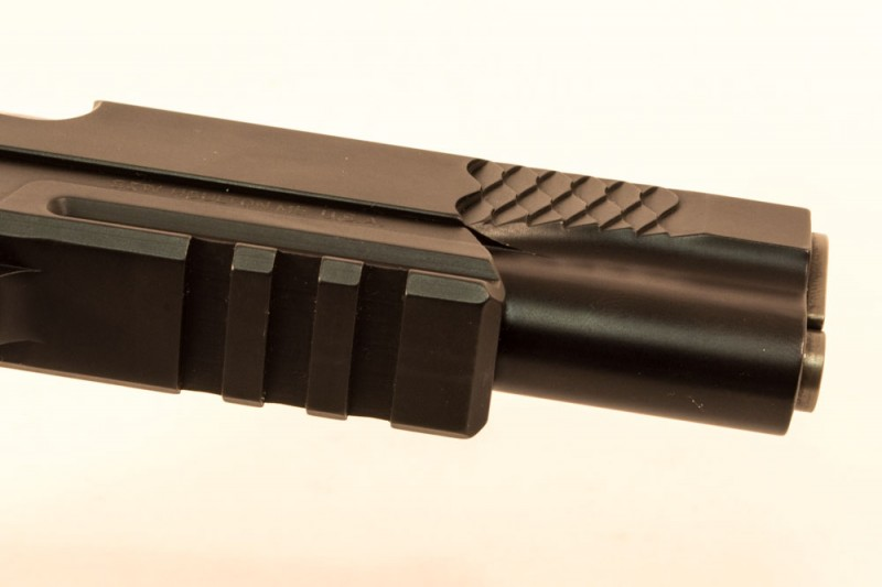 One thing you won't find on John Browning's original is an accessory rail.