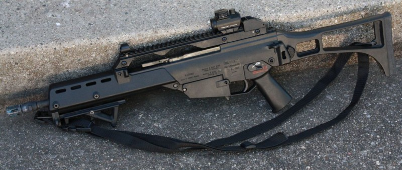 This G36K is a post-May dealer sample that was acquired by a dealer to demo for a local police department.