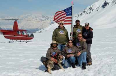"""Battle Dawgs offers a """"summer"""" helicopter jaunt to the glacier for a warrior experience with the dogs and ice."""